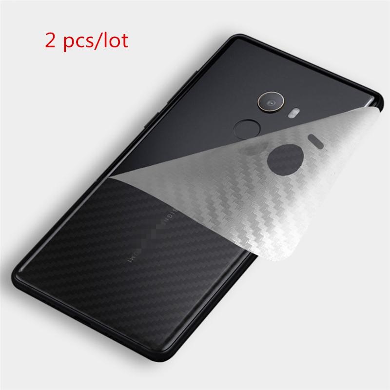 2pcs/lot Clear 3D Carbon Fiber For Xiaomi Pocophone F1 Mi 8 Lite 9 Se Redmi Note 5 6 7 Pro 6 6A Cover Case Back Protector Film
