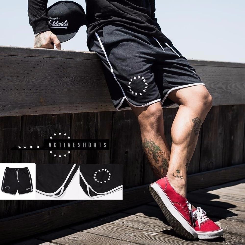 Мужские спортивные шорты, черные шорты для бодибилдинга, для тренировок, для бега, фитнеса, 2019