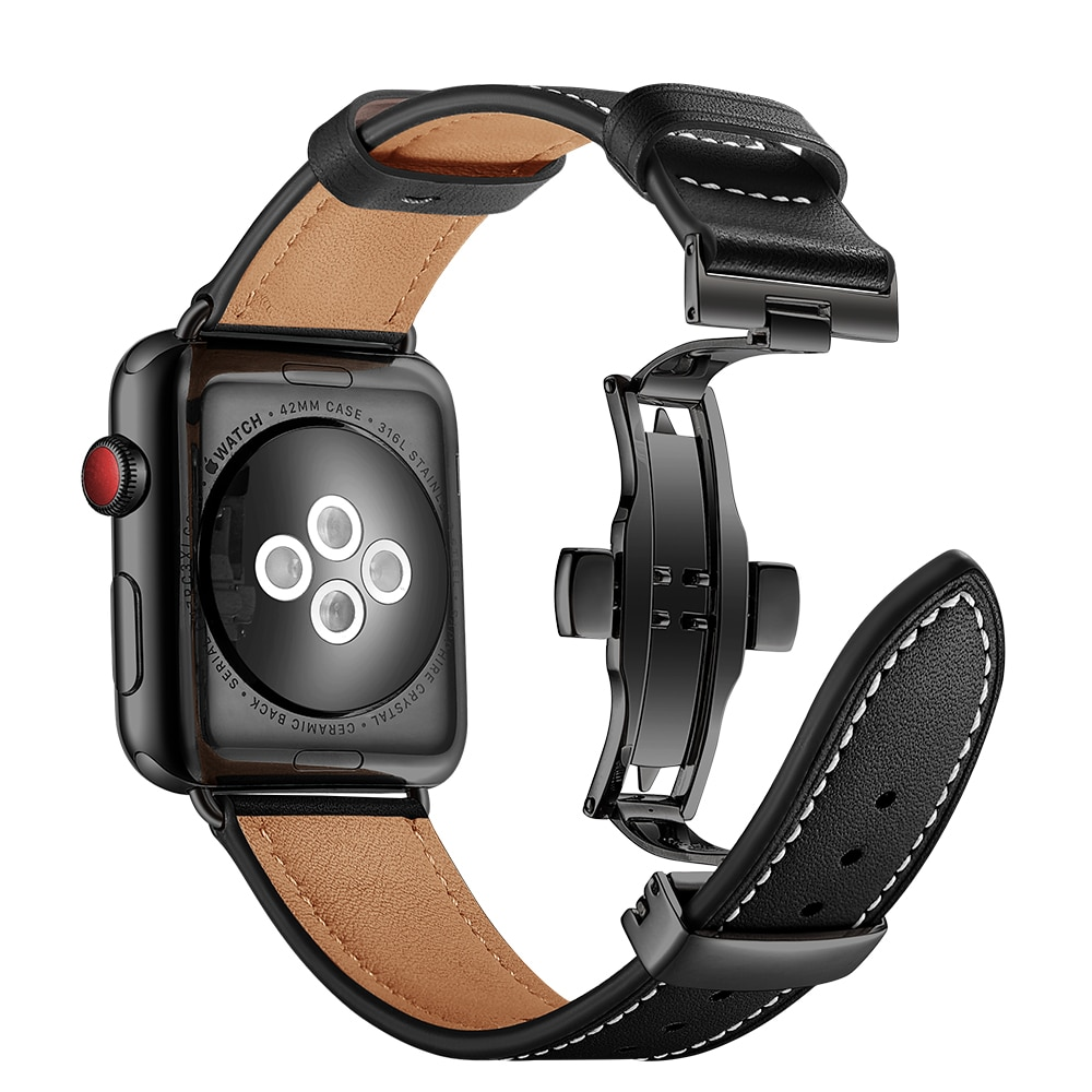 strap For Apple watch bands 42mm 38 mm iWatch 4 5 bands 44mm 40 mm correa Leather bracelet watchband for apple watch 5 4 3 2 1