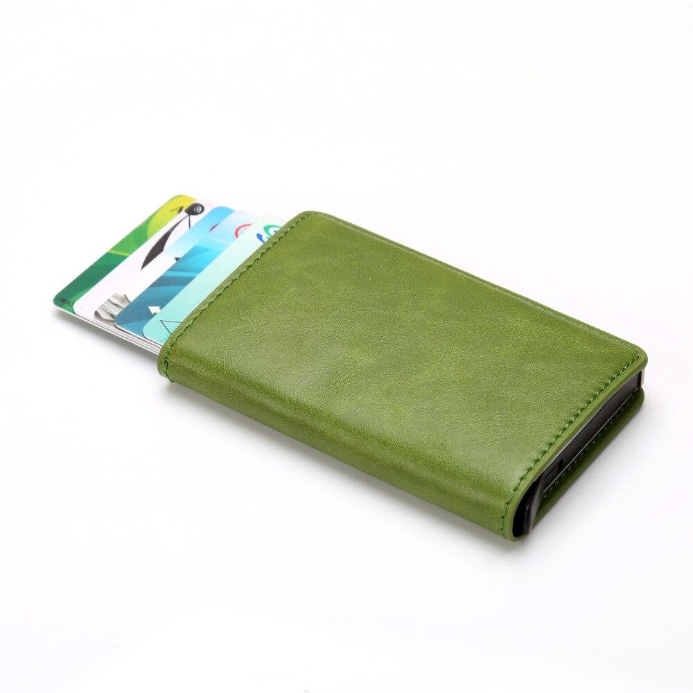 2019 Thin Credit Card Holders Business ID Card Case Fashion Automatic RFID Blocking Card Holder Aluminium Bank Card Wallets