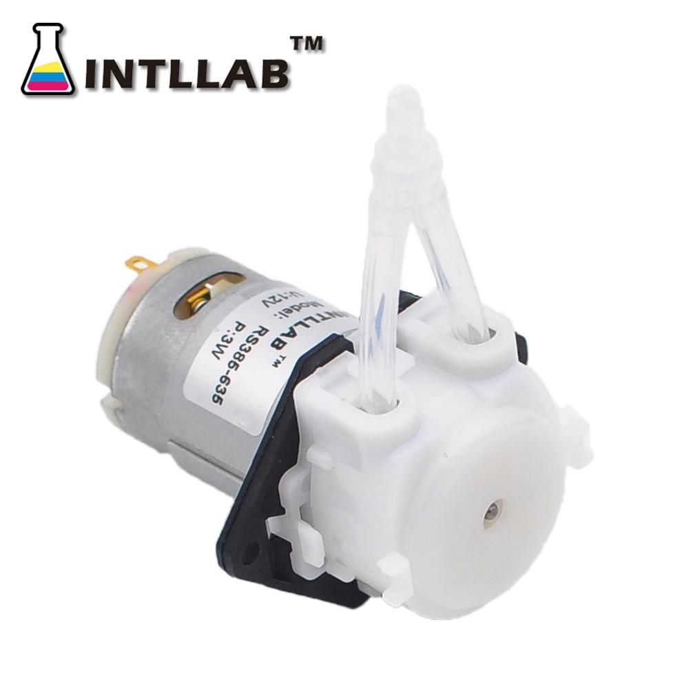 INTLLAB 12V DC DIY Перистальтический жидкостный насос дозирующий насос для аквариума лабораторный аналитический