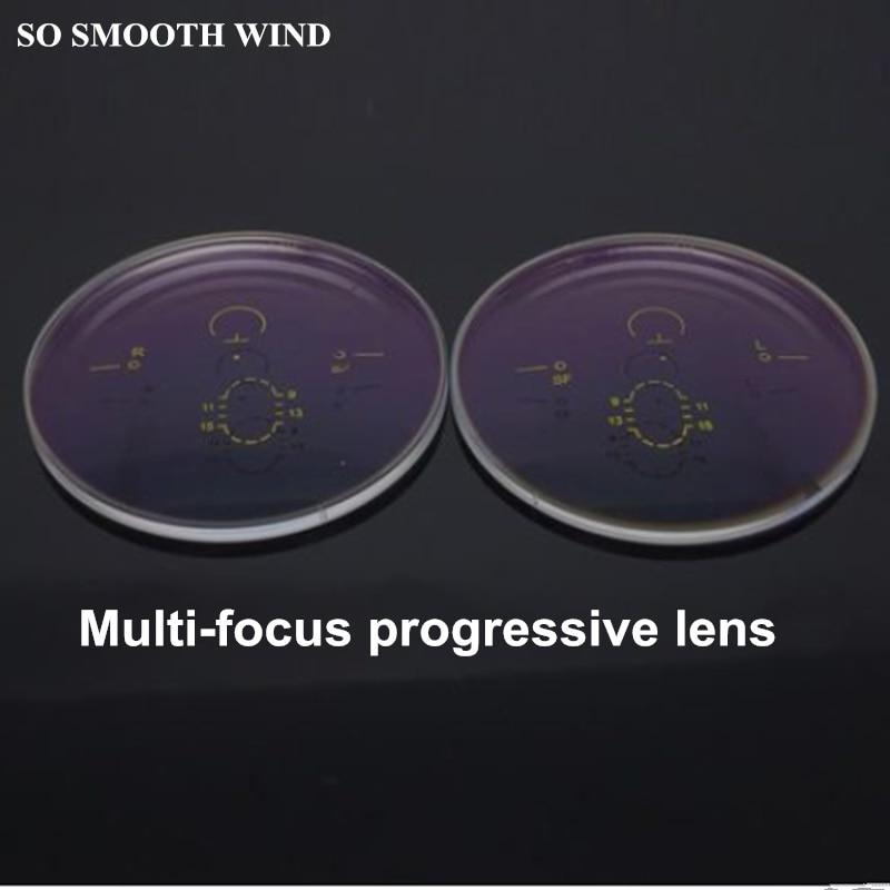 1.56 1.61 1.67 index progressive aspherical multi-focal lenses HMC plating green film myopia high molecular lenses for 2pcs