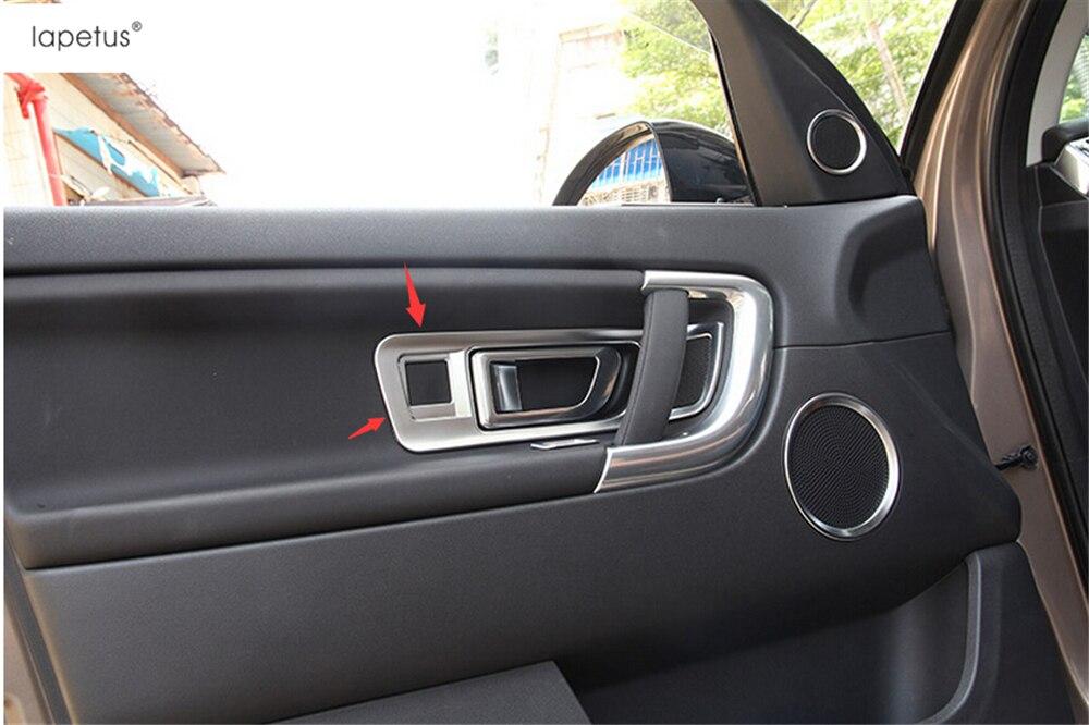 Accesorios de Lapetus aptos para Land Rover descubrimiento deporte 2015-2019 dentro de la manija de la puerta interior del cuenco de la cubierta del molde del Kit de ajuste 4 piezas