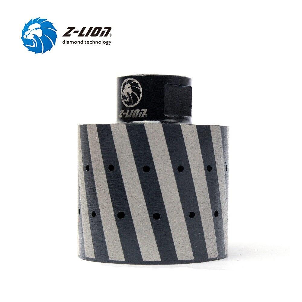 Z-LION 2 Polegada tambor almofada 50mm 1 peça diamante tambor roda granit 5/8-11 m14 diamante rebolo para polimento granito pia