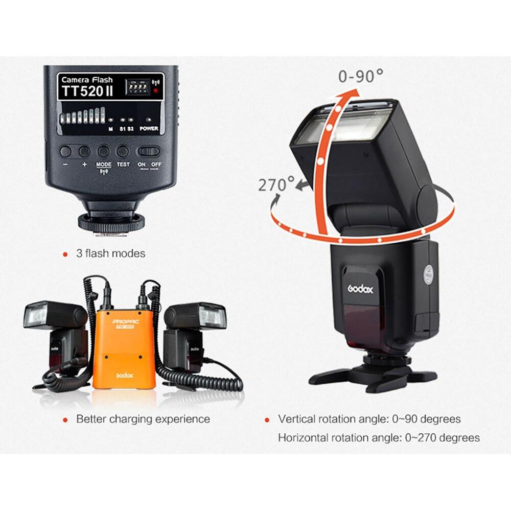 Godox-فلاش فلاش TT520II ، Speedlite ، مرشح لون إشارة لاسلكي ، لكانون نيكون بنتاكس أوليمبوس DSLR ، ضوء فلاش الكاميرا