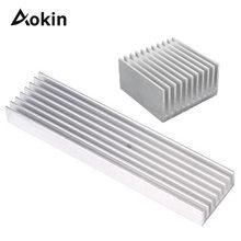 4 Sizes Aluminum Heatsink Power Amplier / Computer Heat Sink High Quality Radiator Module Cooling Fi