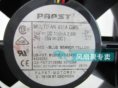 Original Deutsch PAPST MULTIFAN 4314 GMS 12 CM 12032 24 V 2,6 W Inverter lüfter