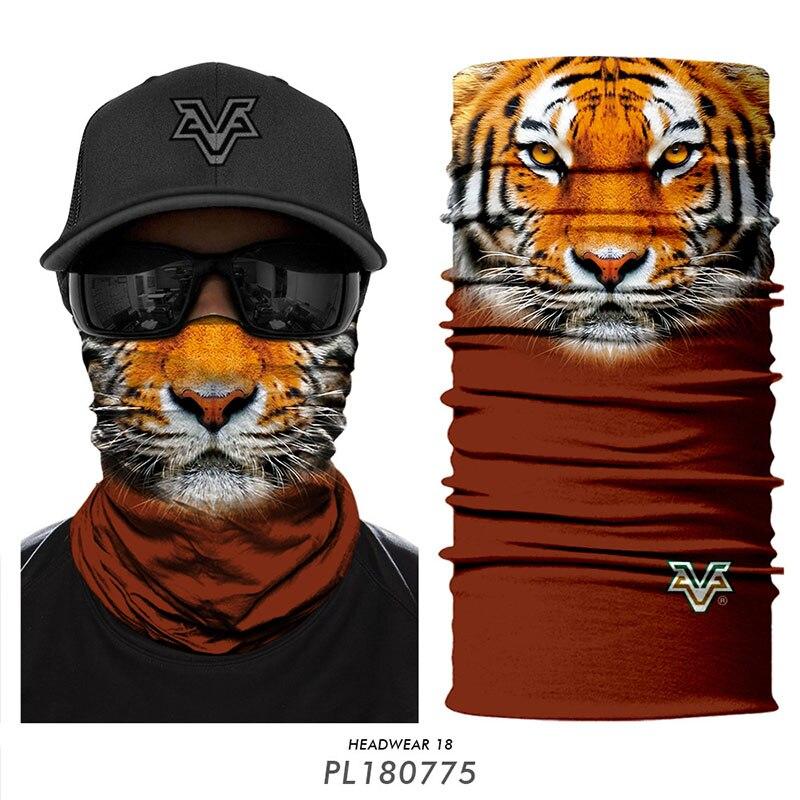 3D Tier Staub-proof Maske Klettern Sporting Skifahren Angeln Balaclava Fahrrad Bicicleta Motorrad Sonnenschutz Headwear Männer Frauen