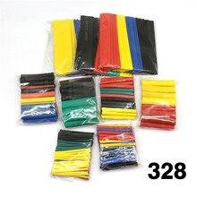 Boîtier de câble de tube thermorétractable   8 tailles multicolores/noir 127 couleur 328 / 530 pièces divers polyolefin gaine de fil couverte bricolage
