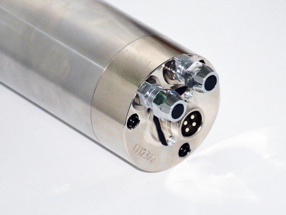 1 Uds 0.8kw del Motor del husillo refrigerado por agua 65mm ER11 220V 800W husillo CNC con 4xBearings