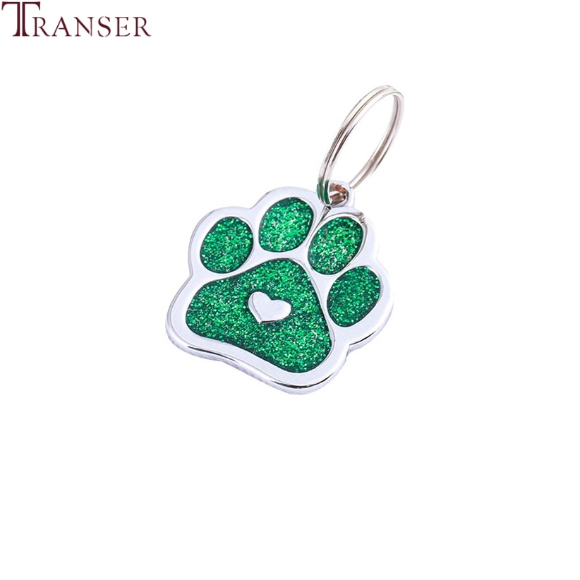 Collar Transer con colgante de corazón de mascota perro gato identificación Collar de mascota etiquetas de nombres accesorios para el cuidado de mascotas 90423