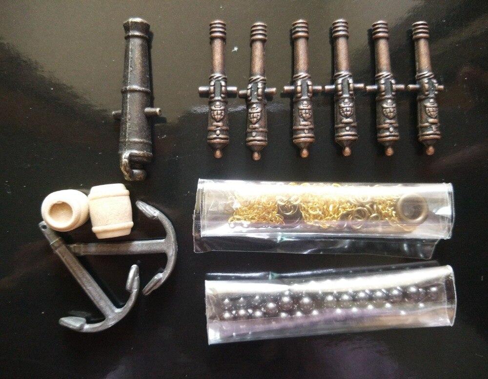 Piezas de modelo de barco HALCON, cañones y anclajes Vintage y otros kits de accesorios de metal mejorados (no incluye el modelo de barco)