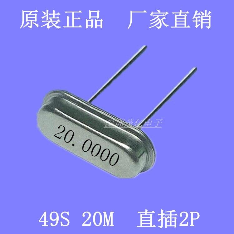 49 20 M 20 MHZ cristales pasivos en 2 pies HC - 49 20.000 M selloff