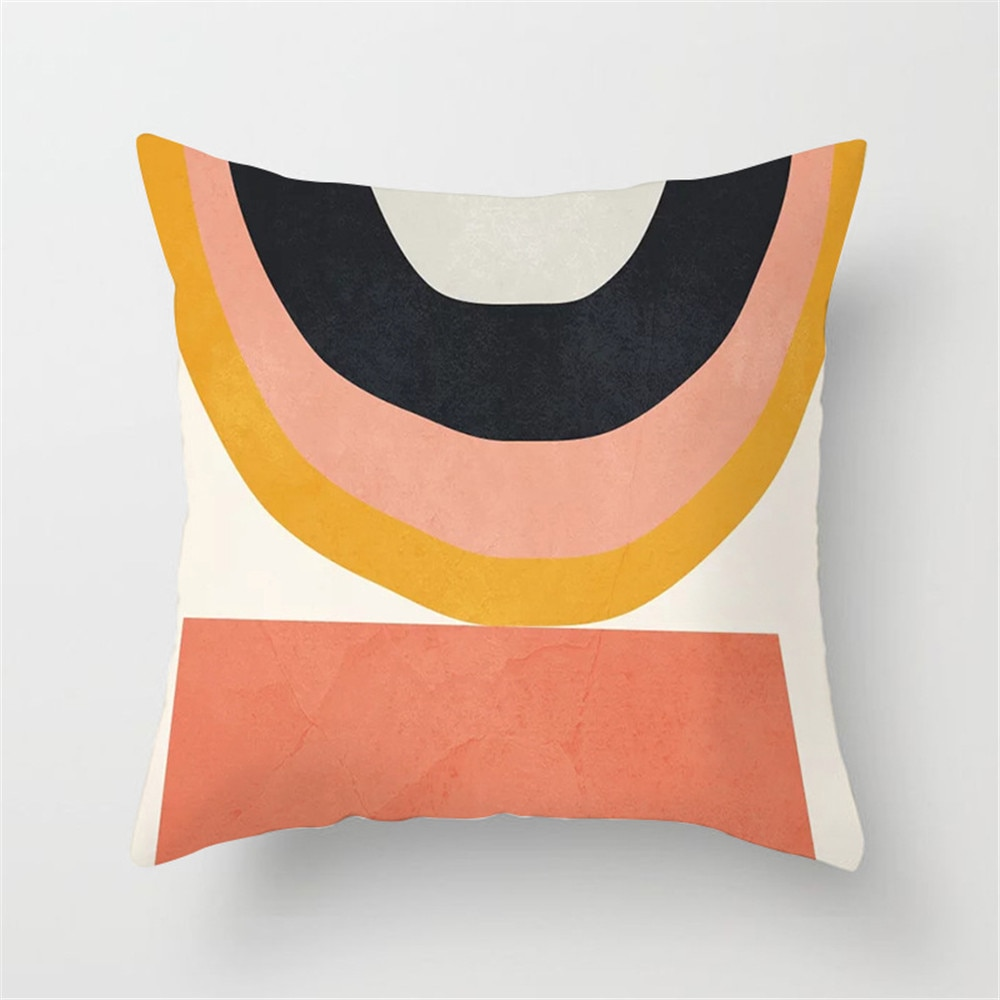 Viento nórdico geometría abstracta ultracorto de abrazo funda de almohada casa tela sofá cojín