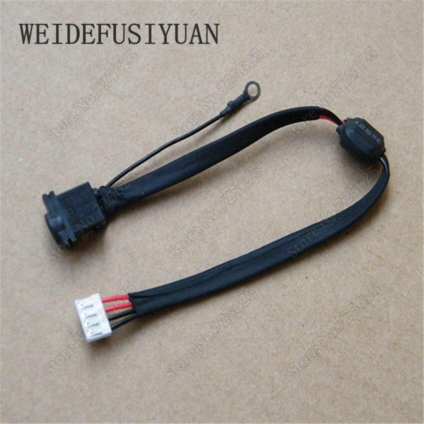 10 шт. новый ноутбук DC разъем питания с кабелем для Samsung NP3445VC NP355V4X NP355V5C DC in кабель