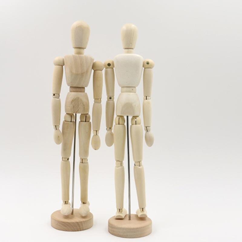 5,5 pulgadas nuevo artista extremidades móviles hombre de madera MODELO DE figura de juguete maniquí bjd boceto de arte dibujar figuras de juguete de acción
