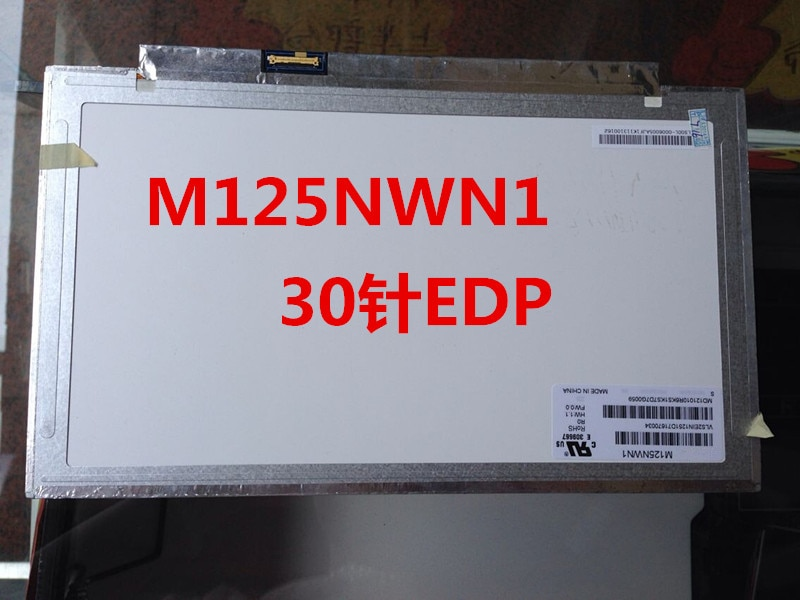 """12.5 """"edp hd original conjunto de exibição completa para lenovo thinkpad x240 x240s portátil tela lcd 04x0433 ivo m125nwn1"""