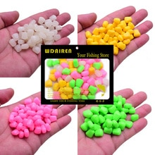 50 or 100Pcs/Lot High Quality Fishing Corn Floating Boilies Flavoured Soft Lure Grass Carp Bait Silicone Soft Baits Artificial
