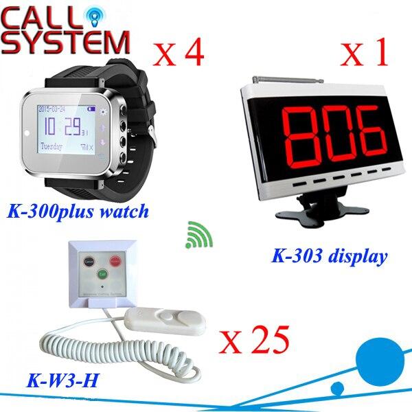 Relógio da enfermeira do Hospital sistema de chamada de pager Display Panel + 4 relógios + 25 pressione o botão botão de Chamada a partir de cabo; chamada; em situações de emergência; cancelar