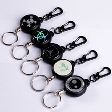 Versenkbare Schlüssel Ring Sicherheit Anti-verloren Abzeichen Schlüssel Kette Outdoor Survival Multi Werkzeuge Karabiner Camping EDC Draht Keychain