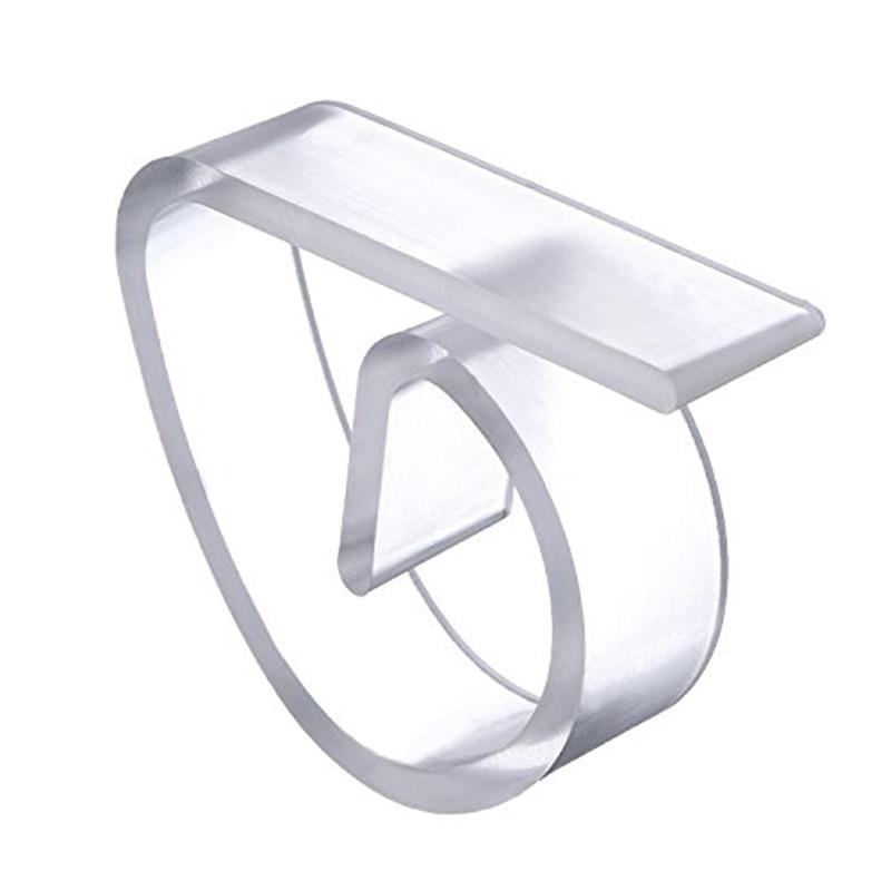 4 unids/lote plástico Clips para mantel para boda fiesta mantel claro mantel pinzas para mantel titular abrazaderas