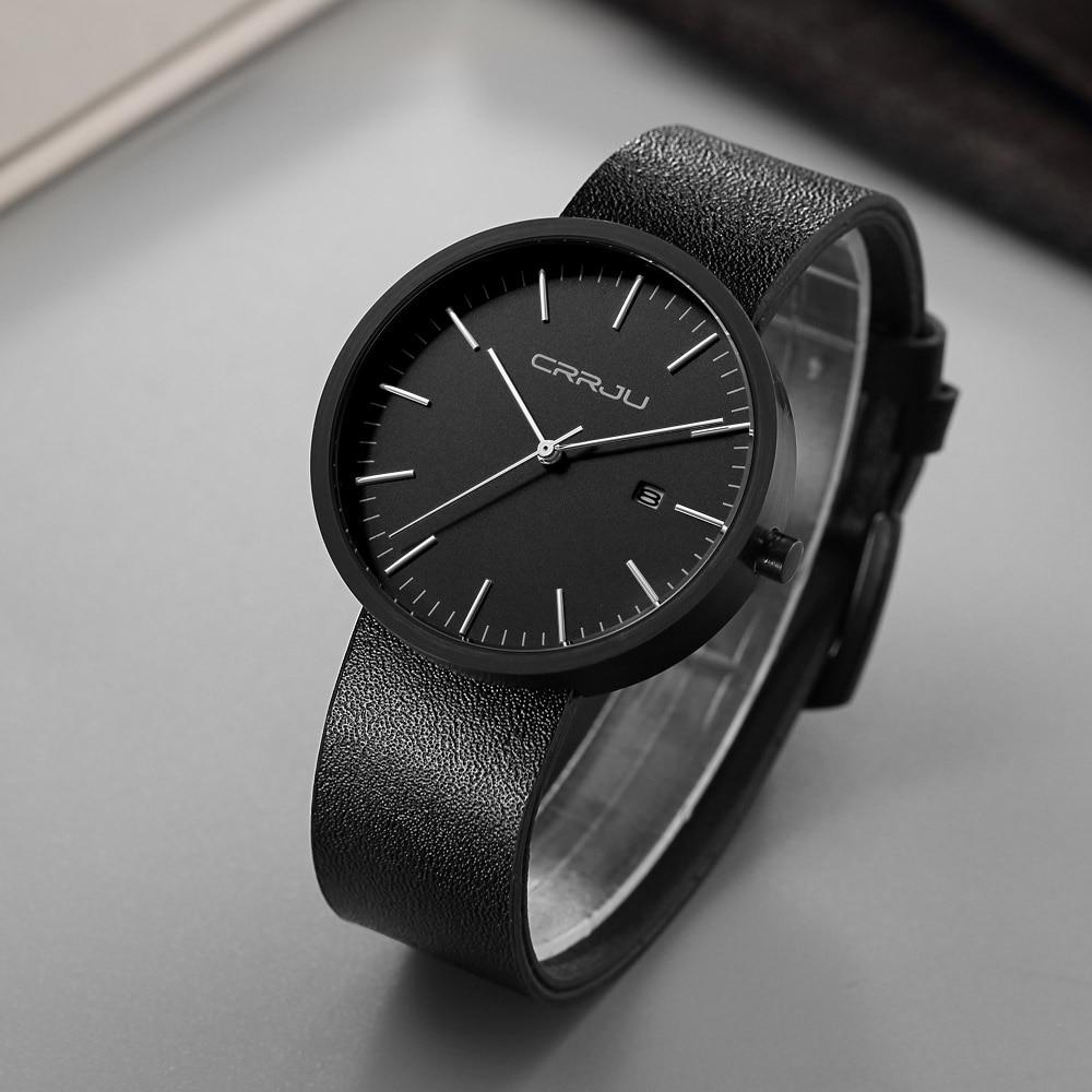 Reloj masculino a la moda, reloj de cuarzo militar para hombre, relojes de Marca Top de lujo de cuero, relojes de pulsera deportivos, reloj con fecha