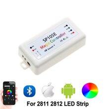 SP104/105E RGB controller Bluetooth WS2811 WS2812B ws2812 led dimmer SK6812 RGB RGBW APA102 WS2801 pixels Led Strip IOS Andro