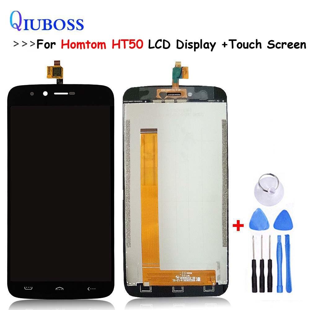 Qualidade original para homtom ht50 display lcd + tela de toque 100% testado tela digitador assembléia substituição + ferramentas gratuitas em estoque