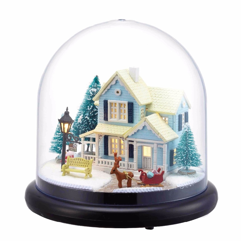 CUTEBEE-casa de muñecas con muebles de madera para niños, juguetes para Navidad,...