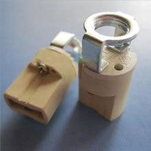 Petite base de lampe en céramique G9 support de lampe basse tension douille g9 haute température avec support 200 pièces