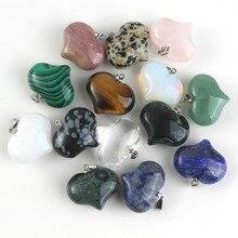 Assortiment cristal naturel Quartz beau pendentif en forme de coeur pour cadeau danniversaire Valentine amour éternel bijoux à breloques 1 pièces