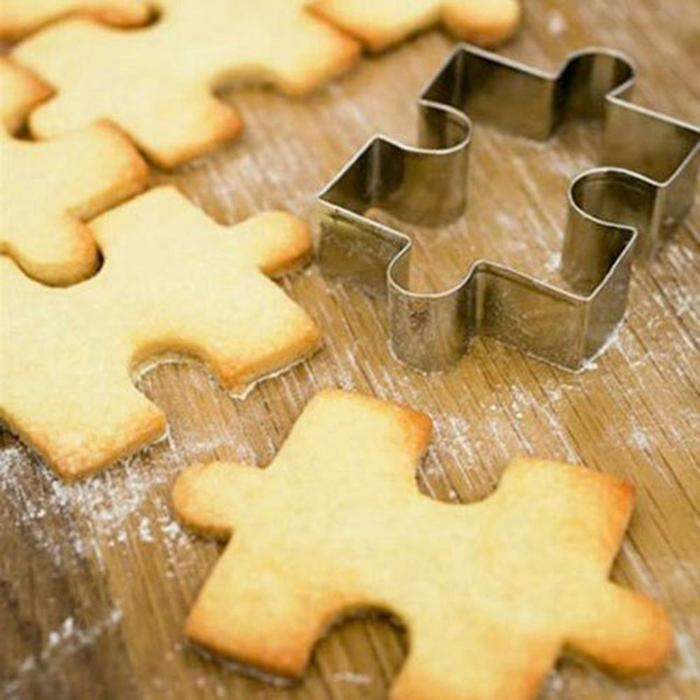 1 шт., форма-Головоломка из нержавеющей стали, форма для торта, резак для печенья, инструменты для украшения тортов из мастики, Sugarcraft, помадка, резак, инструмент для выпечки