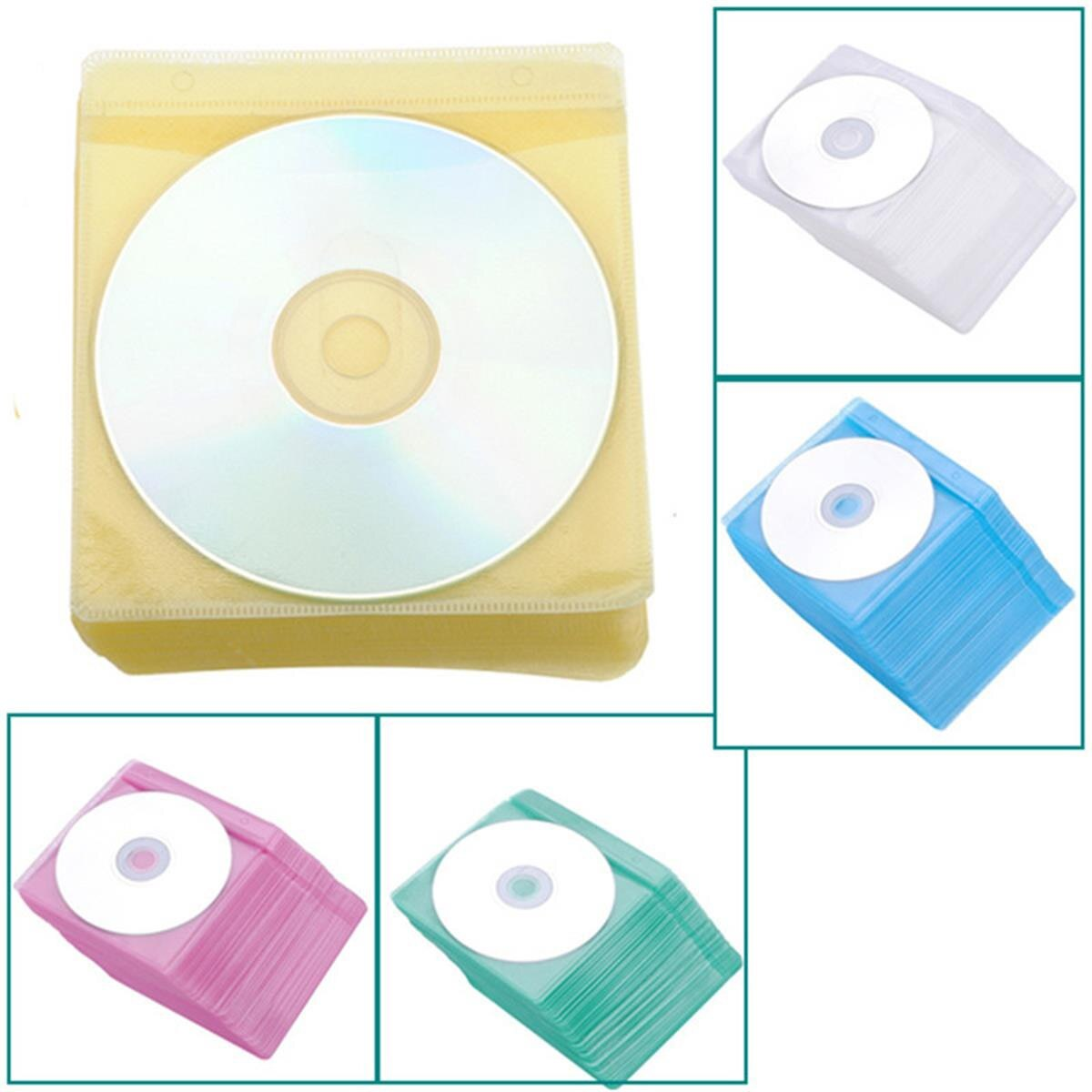 Gran oferta 100 Uds CD DVD funda transparente bolsa de almacenamiento Bolsa PP bolsa protectora portátil sobres soporte bolsa organizadora
