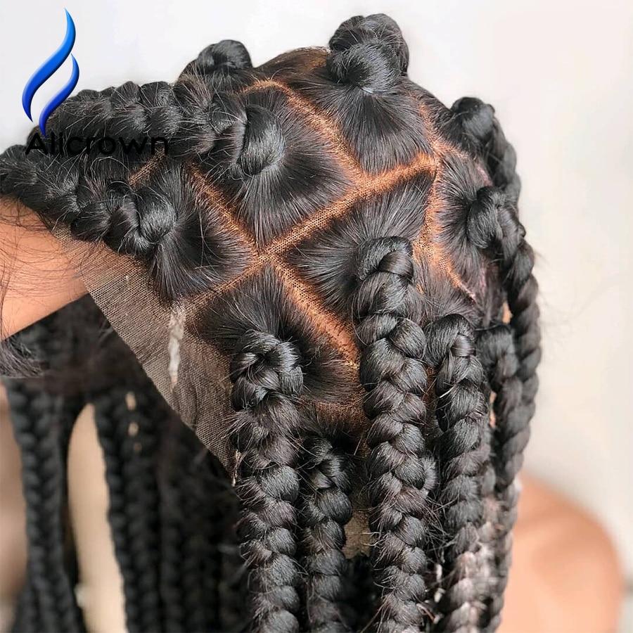 Alicrown glueless perucas completas do cabelo humano do laço com o cabelo do bebê brasileiro remy do cabelo perucas completas do laço para nós descorados das mulheres