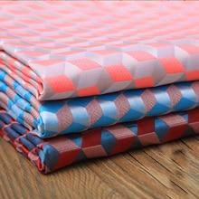 Tissu de broderie en satin   Tissu géométrique, diamant métallique Jacquard Brocade, tissu pour robe de costume, tissu à coudre pour tapisserie patchwork