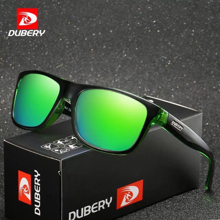 DUBERY Brand Design Polarized HD Sunglasses Men Driving Shades Male Retro Sun Glasses For Men Summer Mirror Square Oculos