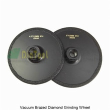 DIATOOL 2pcs (115MM+125MM) Vacuum Brazed Diamond Grinding Wheel M14 Grit #30/40 Flat Grinder Disc Cutting Available