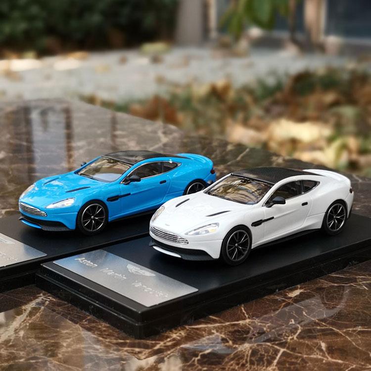 Coches de juguete de aleación Vanquish Ast on Mar Original de fábrica 143 para niños modelo de coche de regalo de cumpleaños
