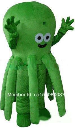 Mascota pulpo mascota disfraz Venta caliente Halloween personaje de dibujos animados disfraz de Carnaval traje