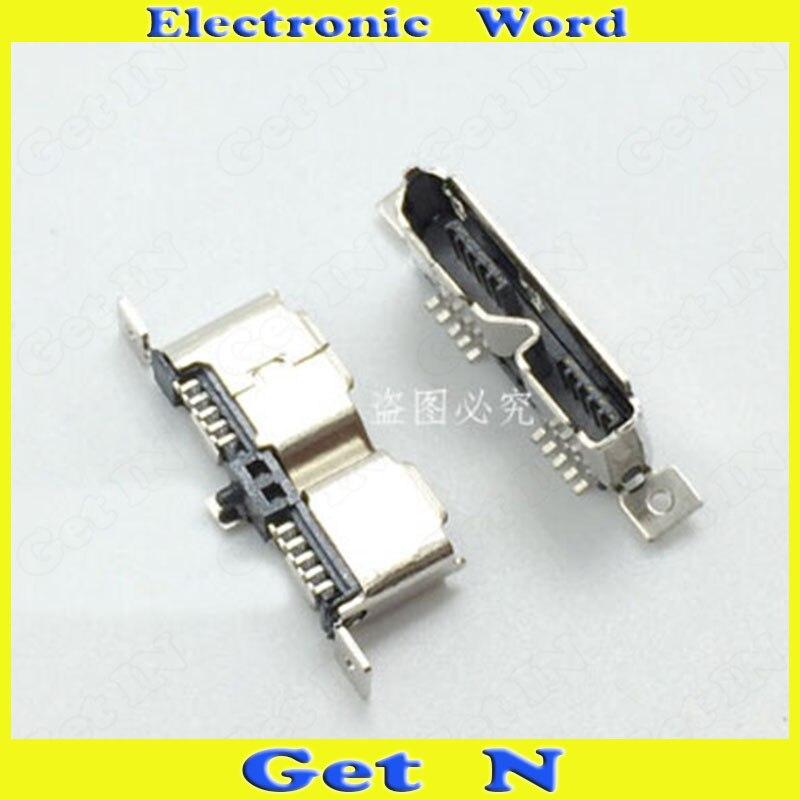25 uds Micro USB 3,0 conectores 180 grados para disco duro móvil 3,0 Micro USB toma de carga trasera