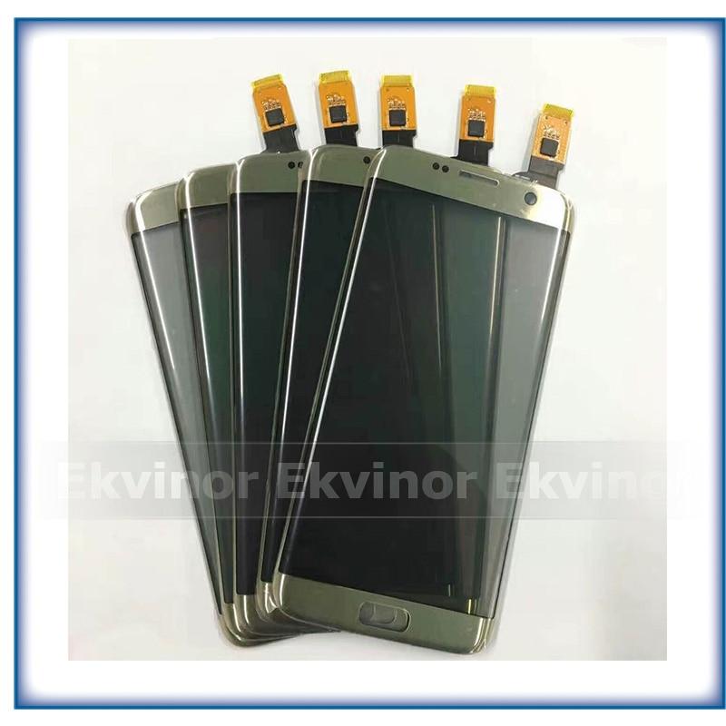 استبدال أجزاء 5.5 ''عالية الجودة لسامسونج غالاكسي S7 حافة G9350 G935 G935F محول الأرقام بشاشة تعمل بلمس الاستشعار الزجاج لوحة