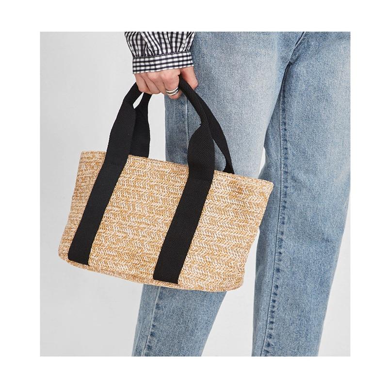 Duopindun Bolsas Fashion Women Beach Made of natural High Quality Straw Woven Bags Rattan Basket Shoulder Bag Purse Handbag