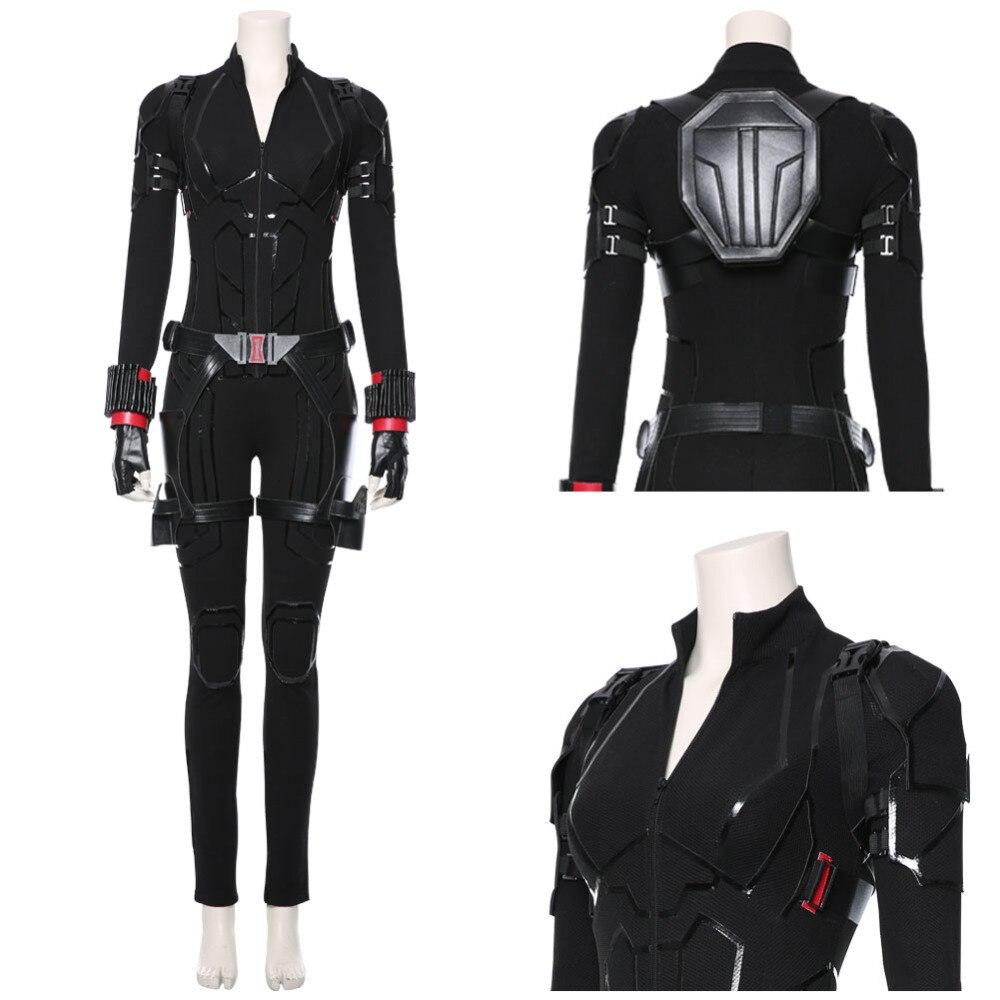 2019 Avengers Endgame Black Widow Cosplay Kostüm Overall Avengers 4 Natasha Romanoff Kostüm Halloween Karneval Frauen Kostüme