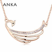 ANKA Top Fashion New Colares Femininos Collar Valentine's Day Wing Peacock Crystal Necklace No Lead-free Nickel Cadmium #102331
