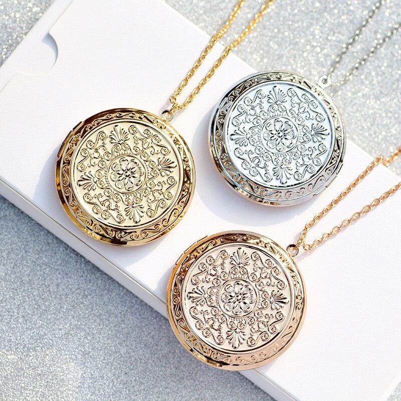 Zavorohin Can Put кулон с фото, ожерелье, большие часы, круглая форма, чокер, фоторамка, ожерелье, украшения для женщин