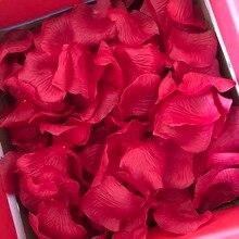 1000Pcs/lot Silk Rose Petals Artificial Flower Petalos Wedding Bridal Shower Aisle Vase Decor DIY Scrapbooking Craft Fake Flower