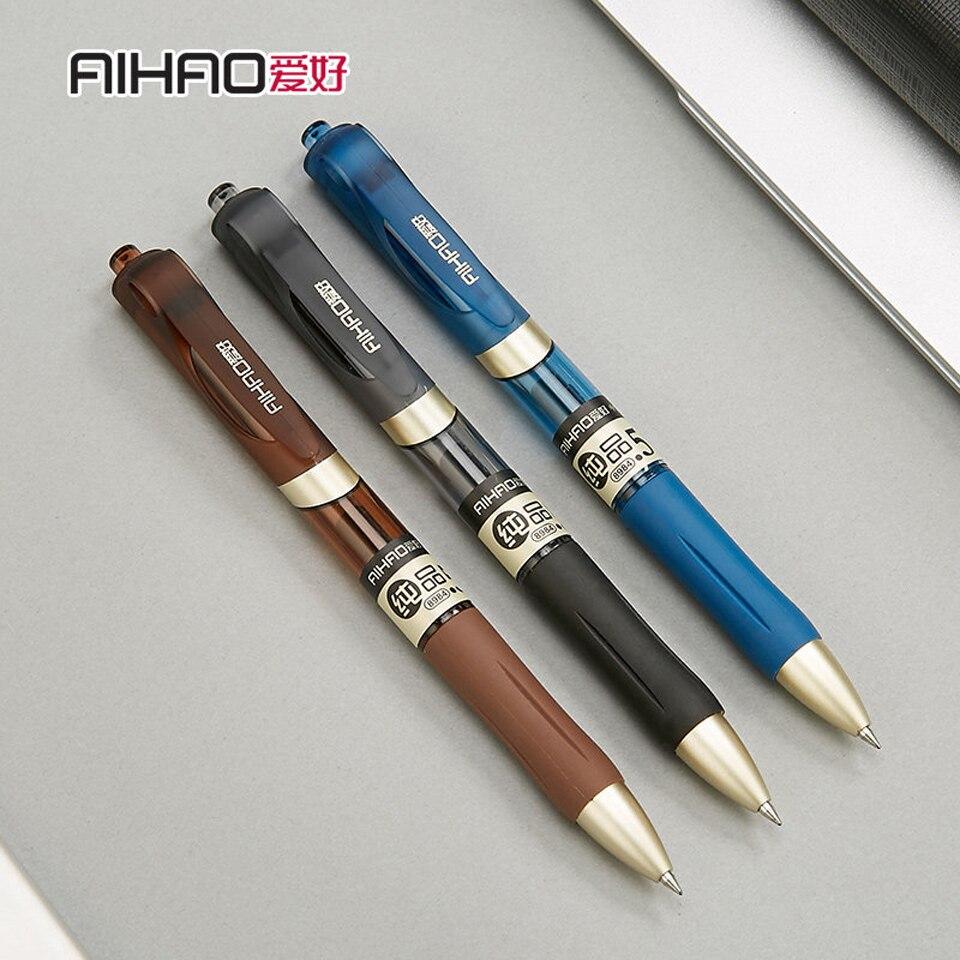 Gel Pen 0.5 mm Black/Blue Ink Refill Gel Ink Pens Office School Writing Supplies Business Pens Promotional Gift 3pcs/lot