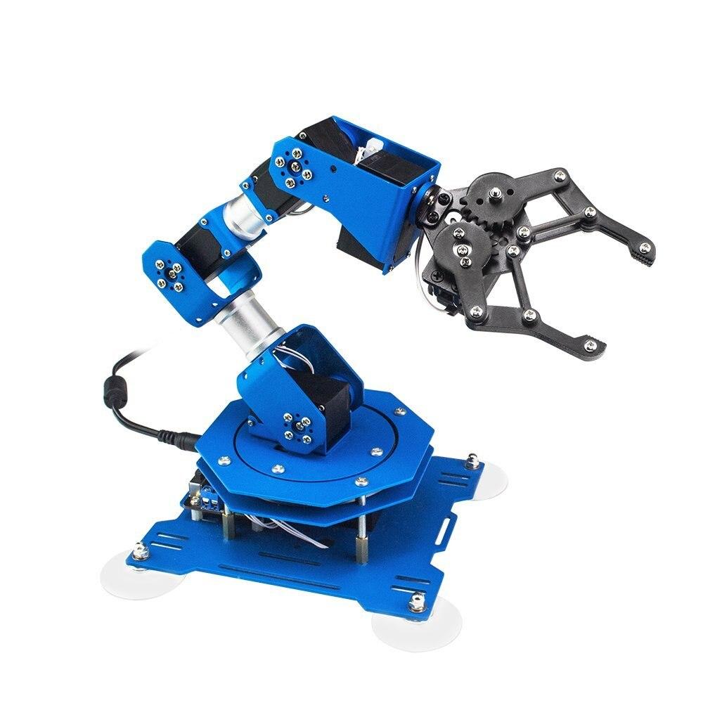 Промышленный робот Arduino 6 DOF Servo Arm XArm с обратной связью параметров для дистанционного управления RC запчасти робот игрушка