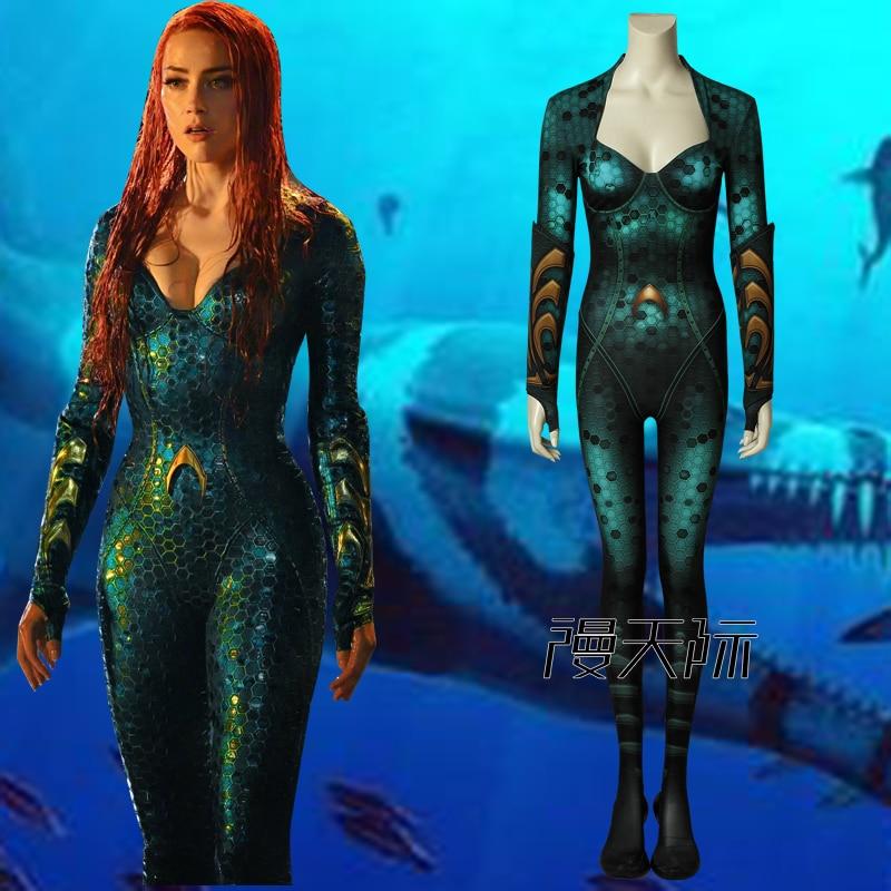 Aquaman Mera-زي مثير للبالغين ، بدلة تنكرية للنساء ، زي Aquaman Mera ، zentai