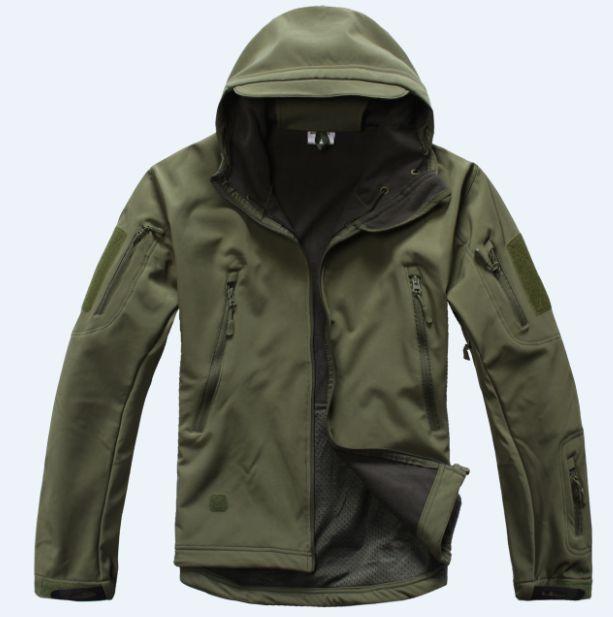 Lurker Shark piel suave Shell chaqueta táctica militar impermeable a prueba de viento caza ejército de camuflaje ropa